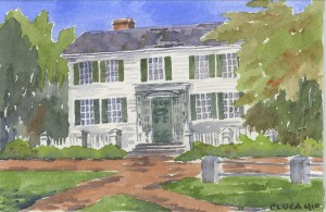 Jefferson Cutter House Watercolor